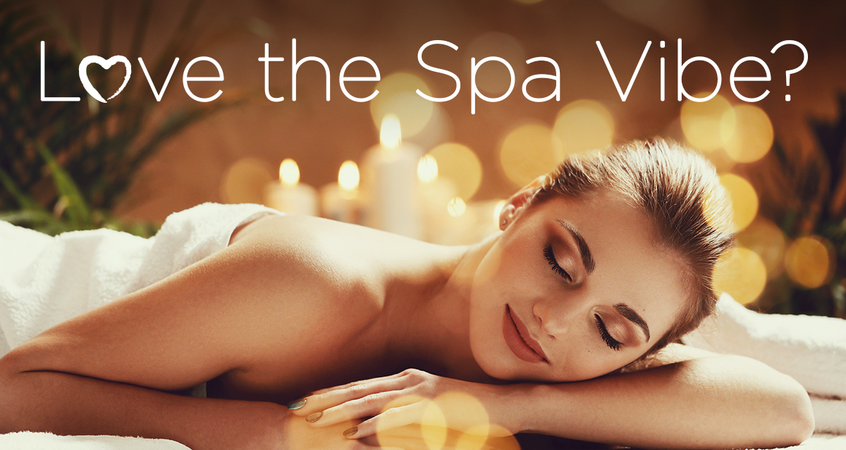 Woman on Massage Table feeling the spa vibe